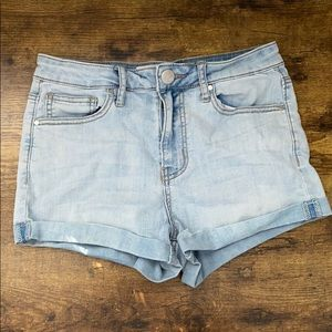"""RSQ """"Sunset High Rise"""" Light Wash Cuffed Jeans"""